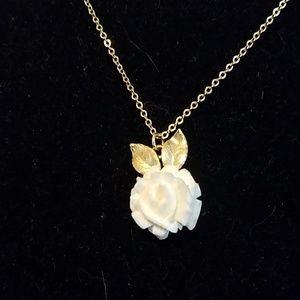 Vintage Krementz rose necklace